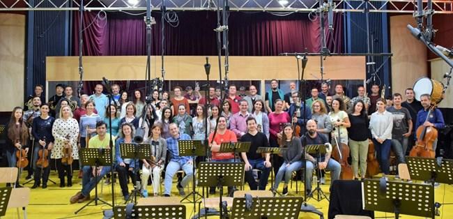 След записи с мъжки и женски гласове в студиото  СНИМКИ: ЛИЧЕН АРХИВ