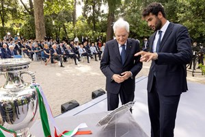 Беретини с президента Серджо Матарела.