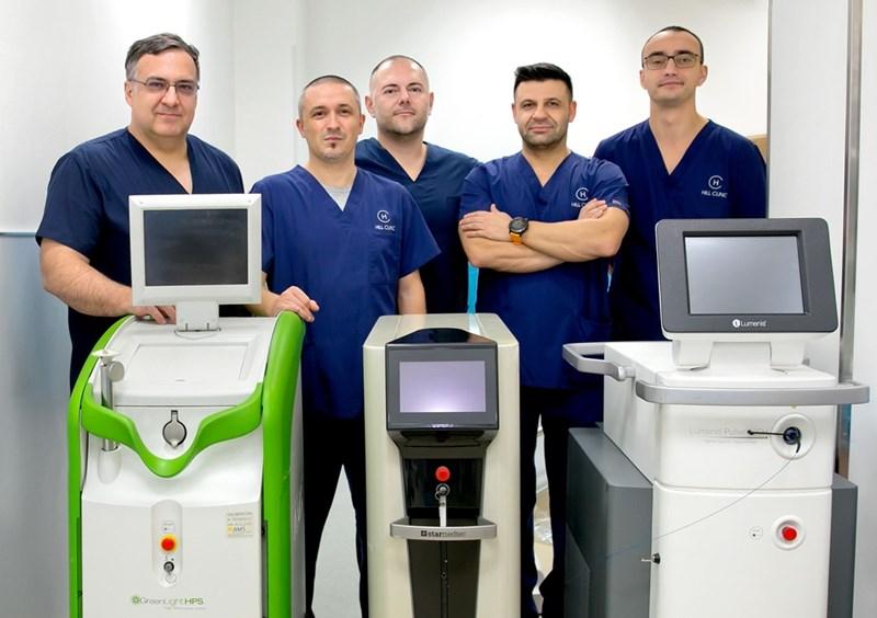 д-р Санча, д-р Деримачковски, д-р Боцевски, д-р Георгиев, д-р Томов (от ляво на дясно)