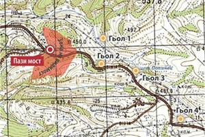 ВИДИМОСТ: Карта на видимостта от Пази мост, изработена от д-р Балтакова.