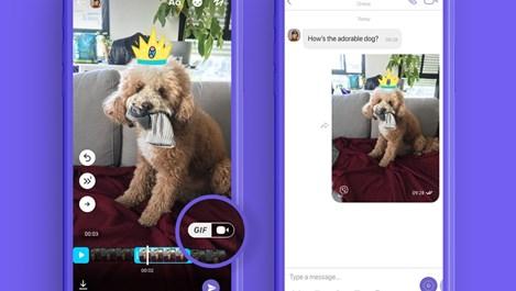 Viber с нова функционалност за създаване на GIF-ове