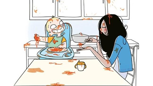 Художник изобрази майчинството в забавни картинки