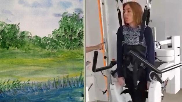 Парализирана майка рисува картини