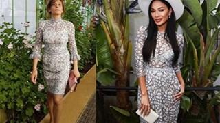 Деси Радева и Никол Шерцингер с почти еднакви рокли