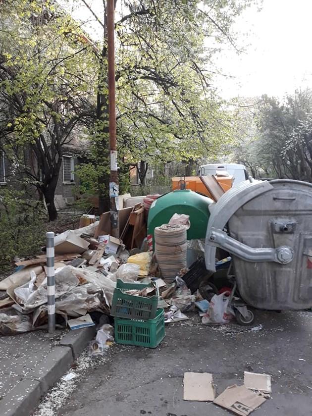 Столичен квартал потъна в боклук