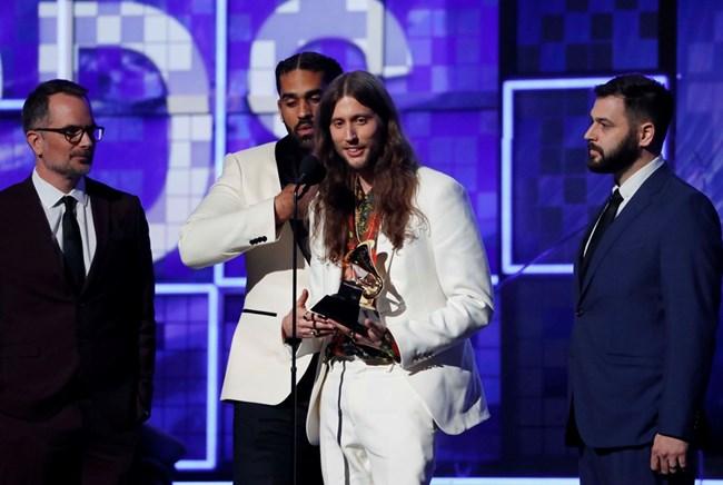Лудвиг Горансон прие наградата на Чайлдиш Гамбино за запис на годината с песента Тhis is America, тъй като той не присъстваше на церемонията.