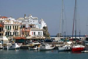 Изглед от остров Скопелос