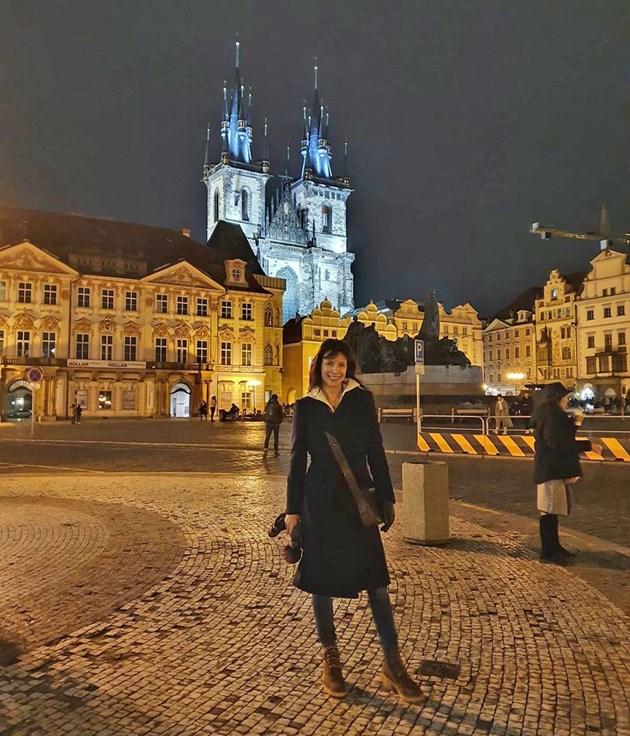 Яна Маринова омагьосана от Прага