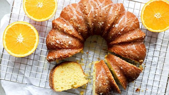 Портокалов кейк с корнфлейкс