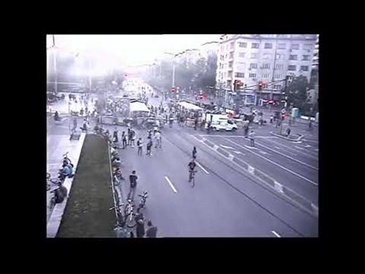 МВР разпространи кадри от снощния протест в София (Видео)