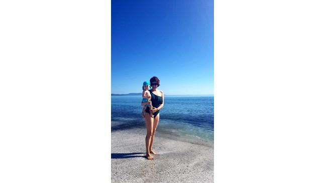 Биляна Петринска заведе сина си в Италия