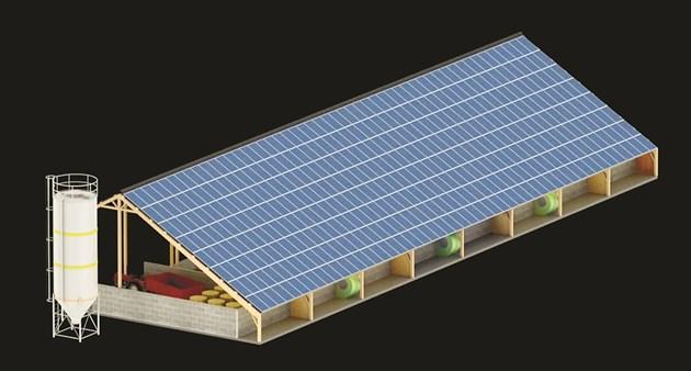 Покривът на фермата осигурява качеството на фуража