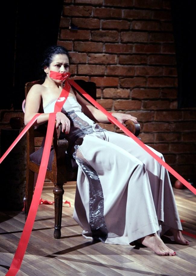 """Елена Петрова на премиерата на пиесата """"Аз, лейди Макбет"""""""