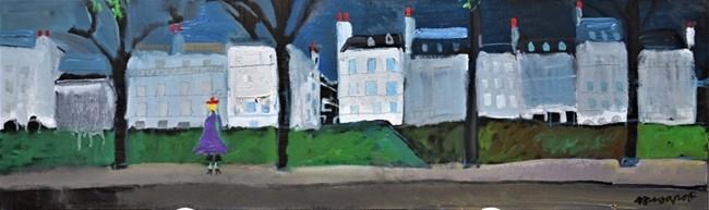 Най-дългата картина - авторът е убеден, че без Сена Париж не е Париж и го рисува.