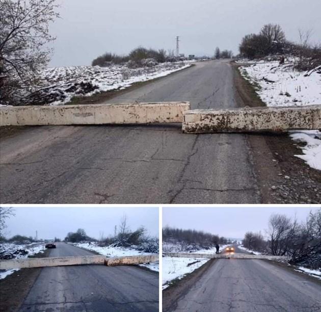 Затвориха пътища около Велико Търново с бетонни блокове