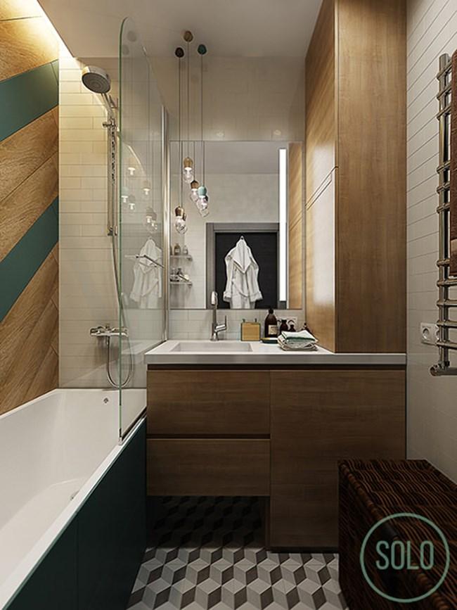 Банята е модерна и удобна