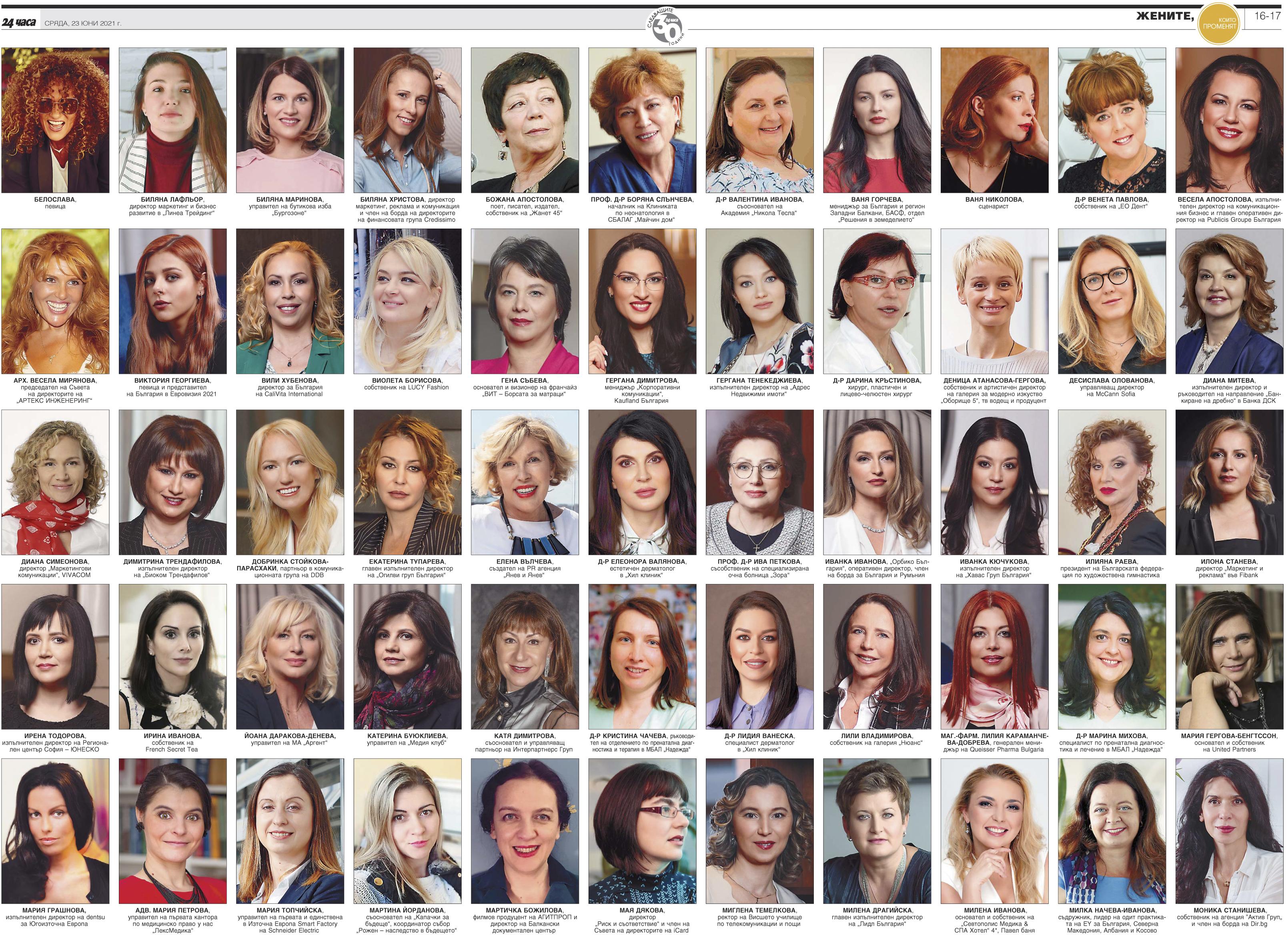 За 100 българки богатството е изживени моменти и подадени ръце