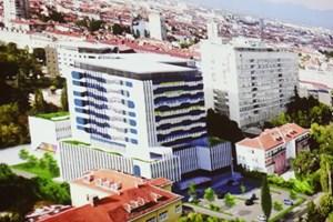 """Изпълнителите от обединение ДЗЗД """"Детско здраве"""" на """"Главболгарстрой"""" представиха идеен проект как може да изглежда бъдещата детска болница при запазване на стария строеж в двора на Александровска болница."""