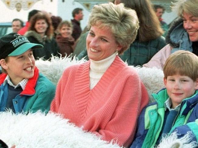 Принц Уилям, принцеса Ди и принц Хари (март, 1994 г.)