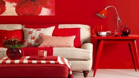 Червени детайли в интериора (галерия)