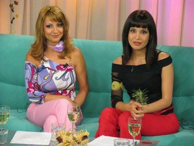 Нели и Меги в началото на телевизионната си кариера