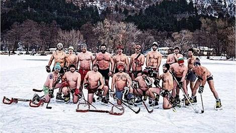 Юлиан Вергов играе хокей по гащи